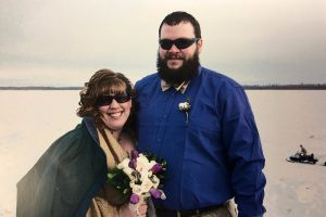 Angie and Josh Pittsenbarger on their wedding day.