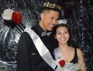 Last year's king and queen of the prom, Trenton Ambrose and Mariah Wigley.
