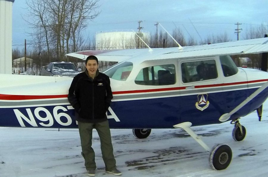 Toby+Monroe+and+the+aviation+program+plane+in+which+he+took+his+first+solo+flight.+%09%09