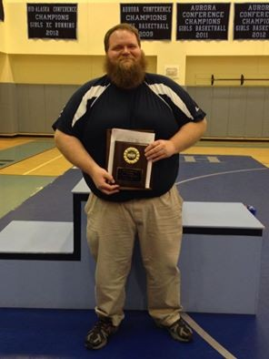 Galena Hawks coach Ben Blasco was honored as the 2014 Coach of the Year at the Denali Conference regional meet at Hutchison High School in Fairbanks on Saturday, Dec. 6.