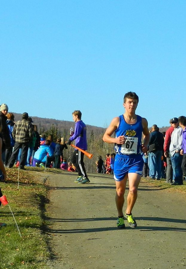 Galena+cross-country+runner+Kaleb+Korta+at+the+state+championship+in+September+2014.+He+came+in+first+place+in+his+division+and+more+than+one+minute+ahead+of+the+second+place+runner.+Thanks+to+Sarah+Brown+for+this+photo.