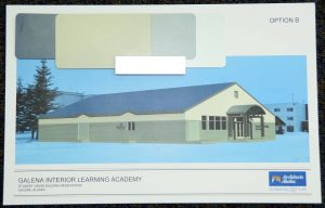 The Galena school board will choose one of these two options for the exterior of remodeled Student Union Building at an upcoming meeting.