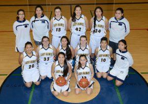 The Galena Lady Hawks varsity team.
