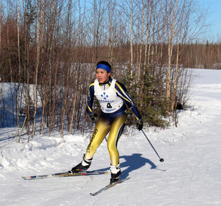 Galena+skier+Carolyn+Sam+is+shown+here+competing+at+last+year%27s+ski+meet+in+Galena.+Photo+by+Sarah+Brown.