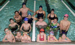 The Galena Hawks swim team.