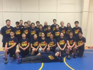 The Galena wrestling team.