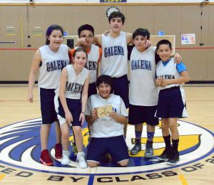 Galena team two, the winner of the Galena Junior High Basketball Tournament.