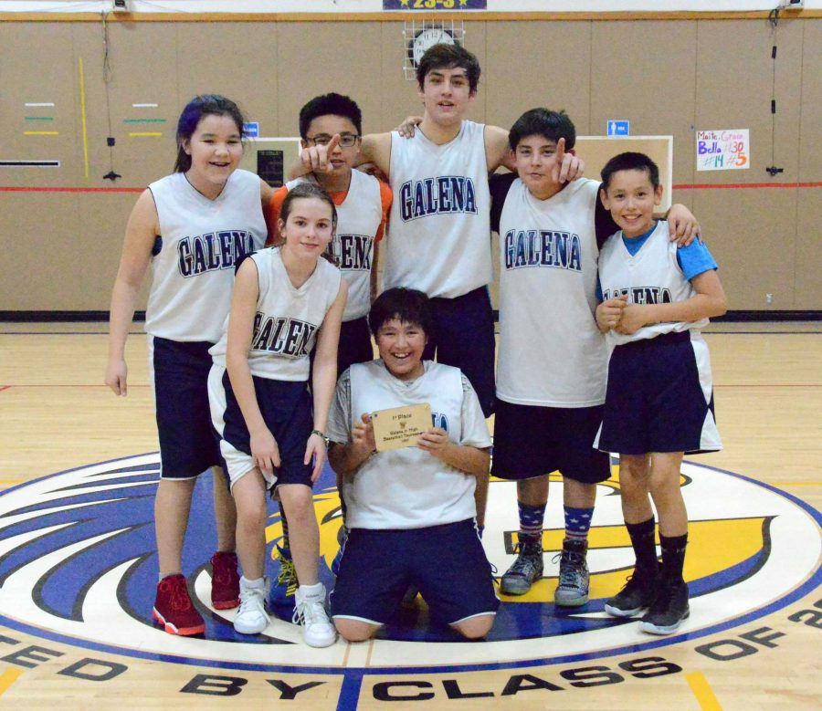 Galena+team+two%2C+the+winner+of+the+Galena+Junior+High+Basketball+Tournament.