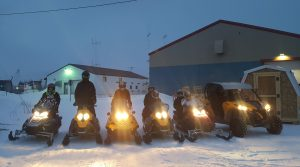 The Sled Shop heads out in this photo from last year. Maverick is at the far right. Photo courtesy Gunnar Johnson.