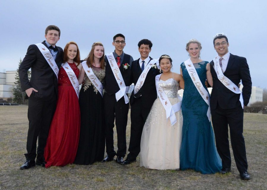 Last year's prom court.