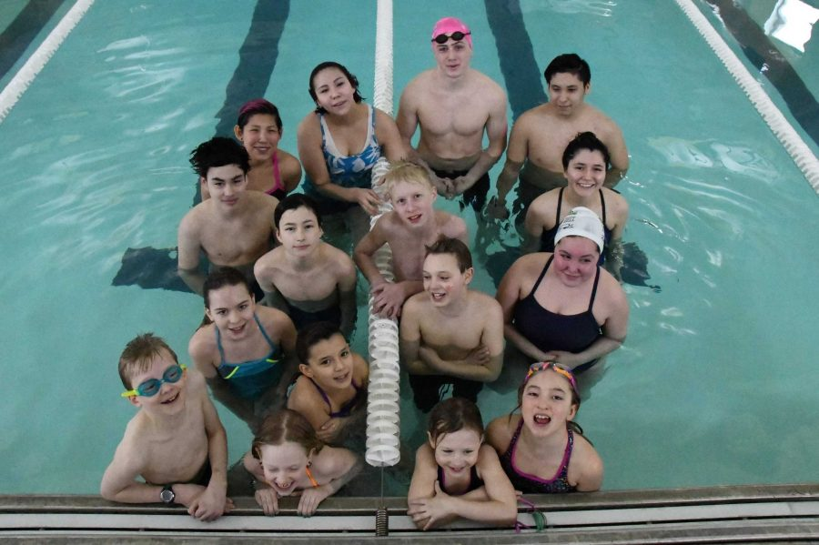 The Galena swim team.