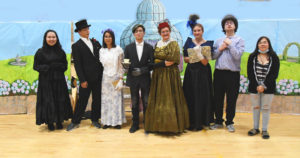 The cast of the play